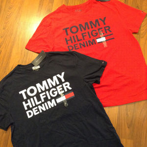 2 Tommy Hilfiger Men's Crew Neck Shirt Size L New